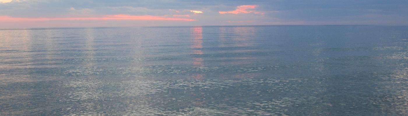 lake michigan sunset, for the diamond work study group .
